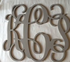Painted Cursive Large Wooden Letter Monogram Initials, 3 Letters, Beautifully hand painted. Chose one of our colors.