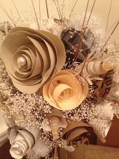 Beautiful paper flowers! Would you do paper flowers for your wedding?