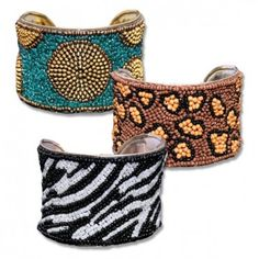 Handmade Beaded Cuff Bracelets