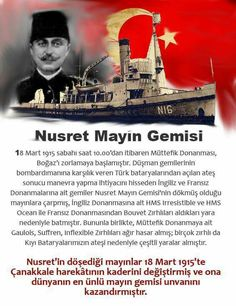 Çanakkale zaferi | Nusret mayın gemisi
