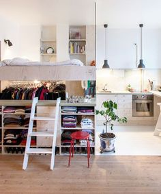 Design Milk - Small Stockholm Apartment | These Stockholm residents truly made the most out of their 380-square-foot apartment. #refinery29 http://www.refinery29.com/design-milk/33