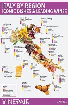 Emilia-Romagna: lasagne, prosciutto, parmesan, bolognese. Veneto: pea risotto. Campania: pizza. Umbria: truffle season and hogs heads. Tuscany: ribollita. #ItalyWine