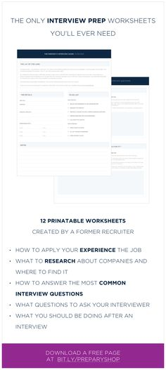 14 best Prepare for Interview images on Pinterest in 2018 Personal
