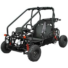 The Kandi Mini Powersport is our most popular gokart, offering a gas-powered, trouble-free alternative to battery operated ride-on toys. Perfect for kids, the 90B is loaded with safety features at no additional cost, including sturdy brush bars and side guard to help protect occupants, lights, blinkers, horn and dual seatbelts. #gokarts #christmasgifts