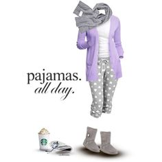 """Pajamas All Day"" by archimedes16 on Polyvore"