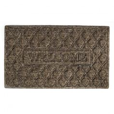 Let your guests know they're welcome before they enter your home with our Rubber Backed Welcome Mat. This woven 80% polyester and 20% olefin fiber needle-punch mat is more durable than traditional coir.