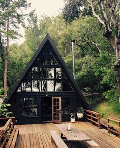 14 Tiny House Designs Perfect for CouplesYou can find Small house design and more on our Tiny House Designs Perfect for Couples Future House, My House, Tiny House Cabin, House Art, House Floor, Tiny House Design, Cottage House Designs, Modern Tiny House, Cool House Designs