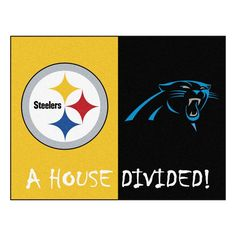 Carolina Panthers vs Pittsburgh Steelers Rivalry Rug