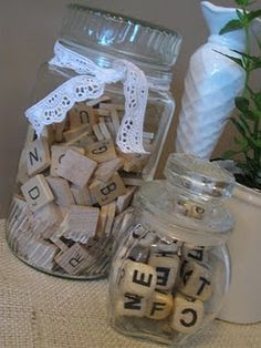 keep game pieces in jars