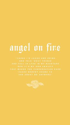 angel on fire lyric