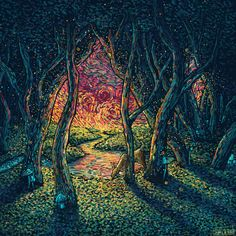 ~The Goddess Within ~  pagan-themed novel by Iva Kenaz.        James R. Eads Enchanting forest