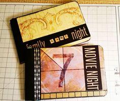Cinema Blog Hop - Altered Composition Notebook Journals by Karen Wyngaard