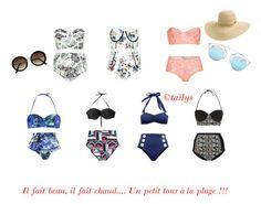 C'est l'été by azaria-mayen on Polyvore featuring polyvore, fashion, style, Été Swim, Rip Curl, Christian Dior and H&M