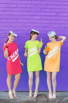Who doesn't love successfully pulling off group Halloween costumes? These easy and cheap group Halloween costumes will have you taking home the trophy for 'Best Costume. Cute Group Halloween Costumes, Fruit Costumes, Pregnant Halloween Costumes, Fete Halloween, Easy Costumes, Costumes For Teens, Group Costumes, Halloween Party Costumes, Halloween Outfits