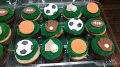 Sports Ball Cupcakes - Amy's Crazy Cakes