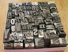 love the old letterpress/type blocks