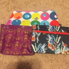 Cosmetic Bag Bundle❤️ 3 cosmetic bags-all mint condition. Clinique, Ipsy and Rebecca Minkoff. Clinique bag: 10x 5 inches, Ipsy-6x5 inches, Rebecca Minkoff-7x 5 inches. Rebecca Minkoff Bags Cosmetic Bags & Cases