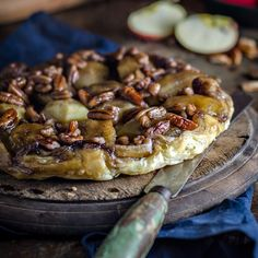 If you're looking for a variation on the traditional tarte Tatin, why not try this Apple Maple and Pecan Tarte Tatin.