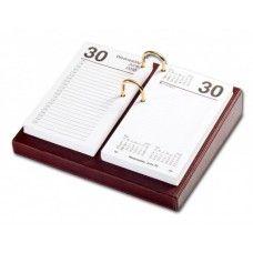 Desk Supplies>Desk Set / Conference Room Set>Holders> Calendar Holders:  Mocha Leather 3.5 x 6 Calendar Holder