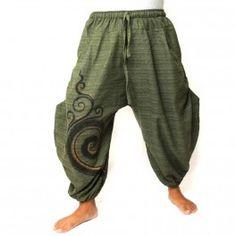 3/5 Saruelhose con amplios bolsillos laterales de algodón pesado