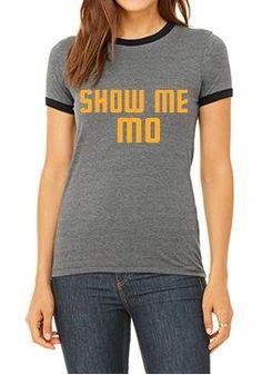 SHOW ME MO Short Sleeve Ringer Tee