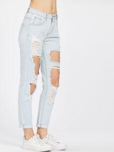 Jeans strappati donna