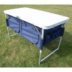 Mesa de camping plegable / mesa de picnic con espacio para almacenaje extra en la parte inferior