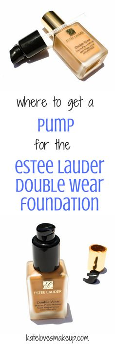 Where to get a pump for the Estee Lauder Double Wear Foundation