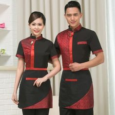 Related image Waiter Uniform, Hotel Uniform, Summer Shorts, Work Wear, Chef Jackets, Sari, How To Wear, Stuff To Buy, Restaurant