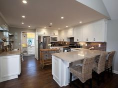 Love this kitchen... Nothing like having a great place to cook, dine, and entertain, all in one place :) Luminous Setting - Rockin' Renos from HGTV's Property Brothers on HGTV