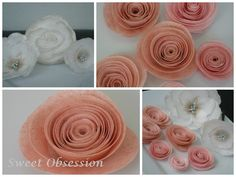 A collage of my most recent wafer paper flowers.