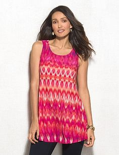 Ikat Tank---So what if I have 7 other tops with these colors?? These are my colors and I love this top! dressbarn sku 0431510