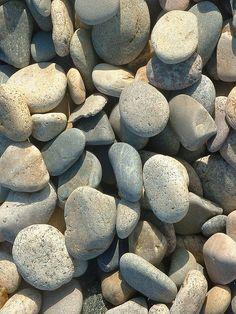 beach stones  via Maine Cottage