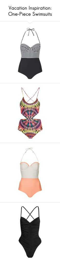 """Vacation Inspiration: One-Piece Swimsuits"" by polyvore-editorial on Polyvore"