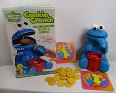 1999 Fisher Price Cookie Monster Crunch #42309 With 23 Cookies Works Game #FisherPrice