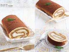 Receta de brazo de tiramisú Cake Roll Recipes, Dessert Recipes, Biscocho Recipe, How To Make Tiramisu, Italian Pasta Recipes, Pie Cake, Christmas Desserts, Party Cakes, Cake Cookies