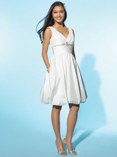 2015-petite-short-white-beach-wedding-dresses-with-pockets