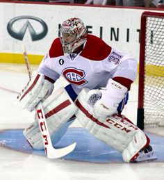 With most teams are around a third of the way through their campaigns, there have been a few surprises this season and a few teams that have kept up their play in a 'business as usual' manner. The Montreal Canadiens and New York Rangers are the tw Goalie Gear, Goalie Mask, Hockey Goalie, Hockey Teams, Ice Hockey, Hockey Stuff, Montreal Canadiens, Cary Price, Hockey Boards