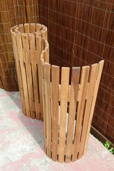 Acacia Timber slat screen  - ideal for wrapping around objects in a vertical or horizontal application