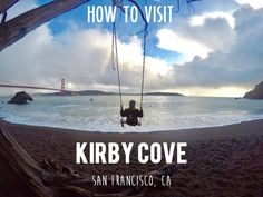Kirby Cove in San Francisco, CA offers beautiful views of the iconic Golden Gate Bridge and the Pacific Ocean. In this article I will show you how to visit Kirby Cove and provide directions on how to get there. Kirby Cove, Daly City, San Francisco Travel, San Fransisco, Greece Travel, Great View, Solo Travel, Travel Destinations, Places To Go