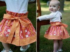 Easy Skirt Patterns For Girls | PDF Simple Skirt Sewing Pattern Sizes 3month- girls 10 | Meylah