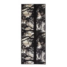 Vallila This rug is an all-time favourite from Vallila. Finnish pine trees play the main role in this design which Tanja Orsjoki designed to bring nature closer to you. Rug Size: Rectangle 80 x Dark Grey Rug, Black Rug, Brown Rug, White Rug, Grey Rugs, Black And White, Yellow Rug, Duck Egg Blue Rugs