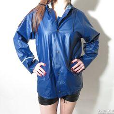 Hopefully retro style is going to be the new black like the Noki. Blue Raincoat, Plastic Pants, Rain Wear, Greatest Hits, Retro Fashion, Rain Jacket, Windbreaker, Formal, Boots