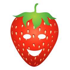 Fruity Party : masque enfant Fraise à télécharger.