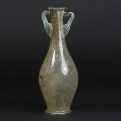 Roman glass bottle - 125 mm high
