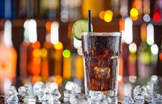 Glass of cola on bar desk - Buy this stock photo and explore similar images at Adobe Stock Coca Cola Zero, Unhealthy Diet, Nutrition, Diet Coke, Natural Healing, Pint Glass, Healthy Choices, Pillar Candles, Diets