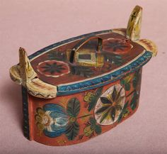 Norwegian Painted Wooden Pantry Box image 5