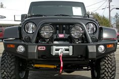 ARB 3450220 Shown on Jeep Wrangler JK with Warn 9.5 CTI Winch