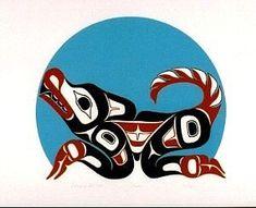 tlingit wolf. Like this print a lot!
