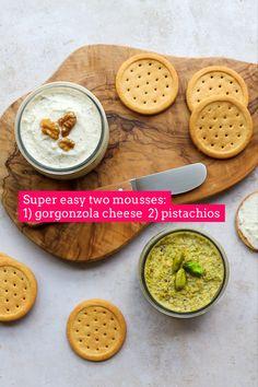 Italian Dishes, Italian Recipes, Toasted Crackers, Spring Recipes, Winter Recipes, Recipe Cover, Vegetarian Recipes, Healthy Recipes, Mousse